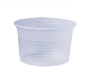 Pote Plástico Descartável Translúcido 200 ml - Cristalcopo