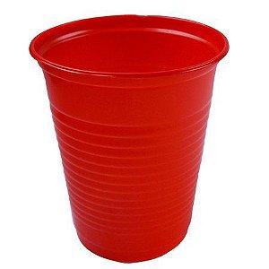 Copo Plástico Descartável Vermelho 200 ml - Bello Copo