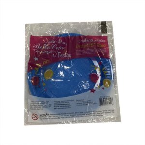 Prato Descartável 15cm Colorido Azul Bello Copo