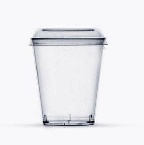 Copo Acrílico para Doces 40 ml com tampa - Plastilânia