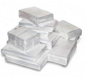 Saco Plástico Cristal PE - Espessura 0,06 - Pacote com 1kg (Diversos Tamanhos)