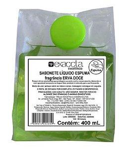 Sabonete Líquido Espuma Erva Doce Mini Refil 400ml Exaccta