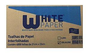 Interfolha Branco 100% Celulose 23x21 White Paper - 4800 unidades