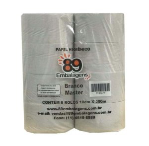 Papel Higiênico Rolão Master Branco 8x300 - 89 Embalagens