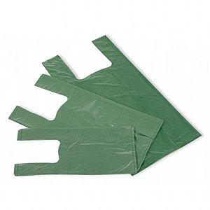 Sacola Plástica Recuperada Verde - Medidas Variadas