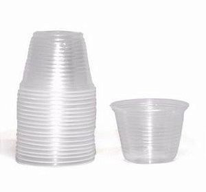 Pote Plástico Descartável Transparente 100 ml Copomais