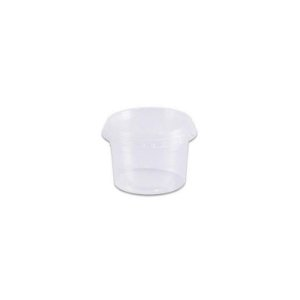 Pote Plástico PP 145 ml Redondo Kit com Tampa para Freezer e Microondas - Orleplast