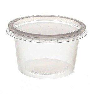 Pote Plástico PP 250 ml Redondo Kit com Tampa para Freezer e Microondas - Orleplast