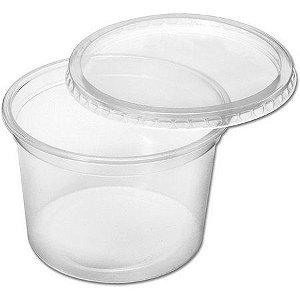 Pote Plástico PP 500 ml Redondo Kit com Tampa para Freezer e Microondas - Orleplast