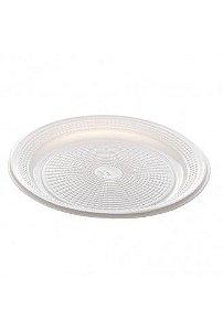 Prato Plástico Descartável 15 cm Branco - Real