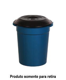 Cesto Lixo com Tampa - 53 Litros