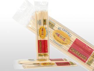 Espeto Bambu para Churrasco c/ 40 unidades - 30 cm
