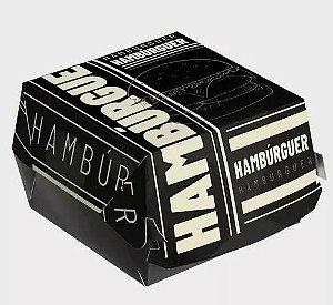 Caixa Embalagem de Hambúrguer Preto - pmgembalagem