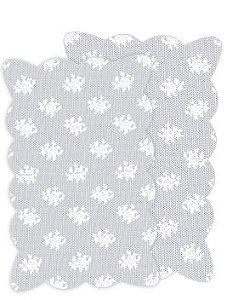 Fundo Rendado Retangular Plástico Branco - Medidas Variadas - 100 unidades