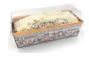 Embalagem Forneável para Bolo Inglês - Preto