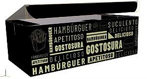 Caixa Personalizada para Hambúrguer Box Duplo - C/50 Unidades