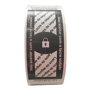 Etiqueta Lacre para Embalagens Delivery Preto - 500 unidades