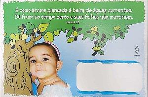 É COMO ÁRVORE PLANTADA  CARTÃO ROL DE BEBÊS MENINA  UFMBB