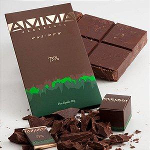 Chocolate 75% Orgânico Amma 80g