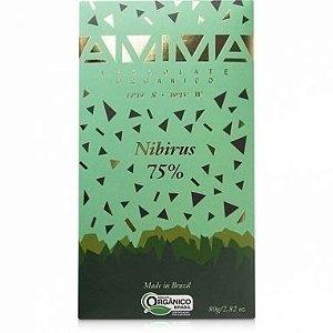 Chocolate Nibirus 75% Orgânico Amma 80g