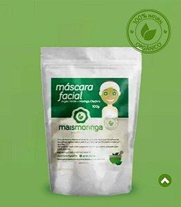 Moringa Máscara Facil com Argila Verde - Mais Moringa 100g