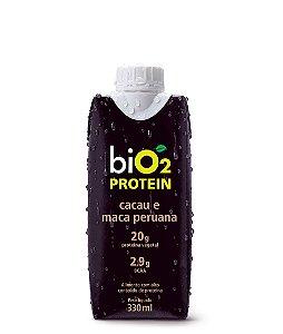 Protein Shake Cacau e Maca Peruana 330ml - biO2