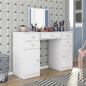 Penteadeira Com Espelho Demóbile Lorena 2 Portas 5 Gavetas Branco