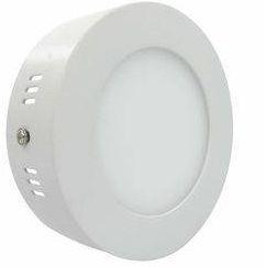 Luminária Plafon 06w LED Sobrepor Redondo Branco Quente 3000k