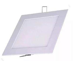 Luminária Plafon 12w LED Embutir Quadrado Branco Frio 6000K