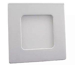 Luminária Plafon 03w LED Embutir Quadrado Branco Frio 6000K