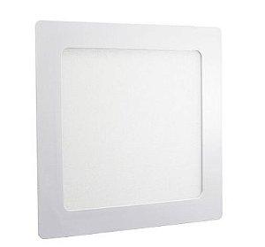 Luminária Plafon 25w LED Embutir Quadrado Branco Quente 3000K