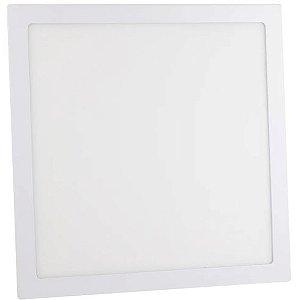 Luminária Plafon 36w LED Embutir Quadrado Branco Frio 6000K