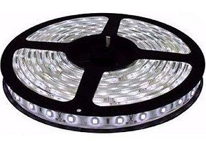 Fita LED - 5050 Branco Frio (6000K) - Rolo com 5 Metros - 14w  - 60 LEDs por Metro - IP65 (com Silicone) - 12V