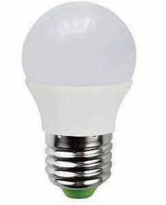 Lâmpada Led Bulbo 03W E27 Bivolt Branco Quente