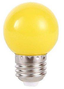 Lâmpada Led Bolinha 1W 110V Amarelo