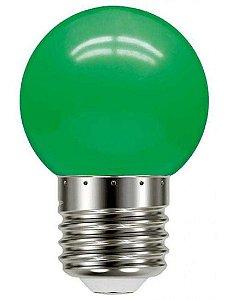 Lâmpada Led Bolinha 1W 110V Verde