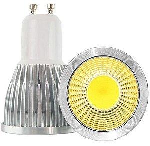 Lâmpada Dicroica LED COB GU10 03w Branco Quente