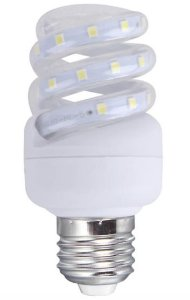 Lâmpada LED Espiral 5w Branca Fria