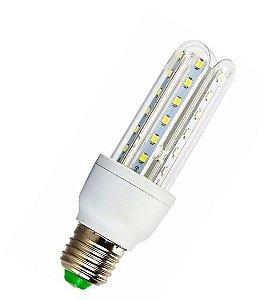 Lampada LED 3U (milho) de 09w E27 Branco Frio