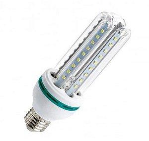 Lampada LED 3U (milho) de 12w E27 Branco Frio