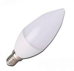 Lâmpada Vela Leitosa LED 5w E14 Branco Quente Sem bico