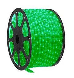 Mangueira LED Redonda Rolo com 100m Verde 110v  - À prova d'água