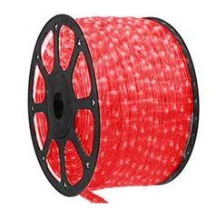 Mangueira LED Redonda Rolo com 100m Vermelho 110v  - À prova d'água