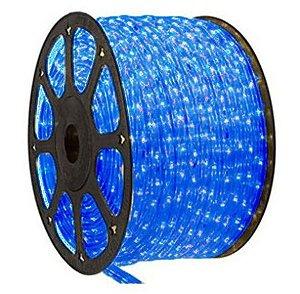 Mangueira LED Redonda Rolo com 100m Azul 110v  - À prova d'água