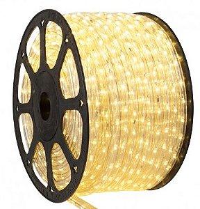 Mangueira LED Redonda Rolo com 100m Branco Quente 110v  - À prova d'água