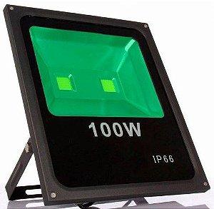 Refletor Holofote LED 100w Verde