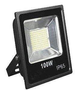 Refletor Led Slim SMD 100W Branco Frio