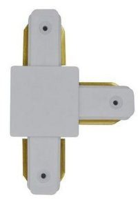 Conector Emenda - Tipo T - Para Trilho Eletrificado LED - Cor Branca