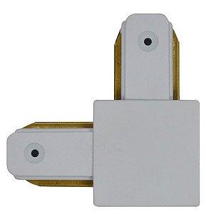 Conector Emenda - Tipo L - Para Trilho Eletrificado LED - Cor Branca