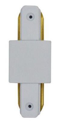 Conector Emenda - Tipo Reta - Para Trilho Eletrificado LED - Cor Branca